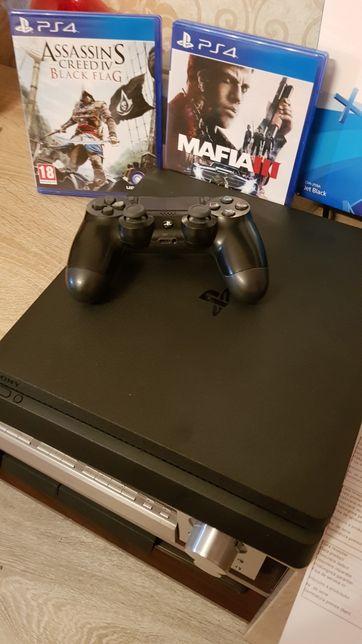 Playstation 4 Slim 500 gb impecabil 2 jocuri cadou