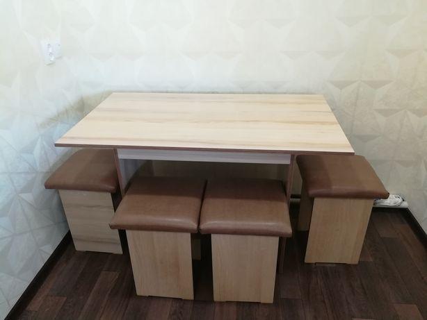 Новый стол и.4'табуретки