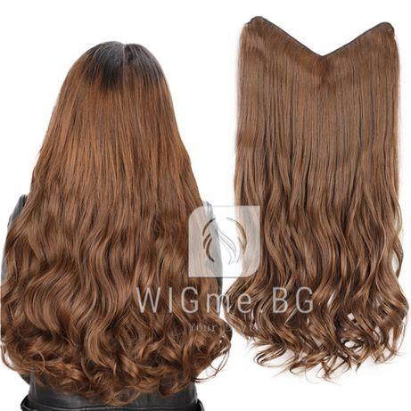 Треса с клипси на един ред - къдрава коса от WIGme.BG