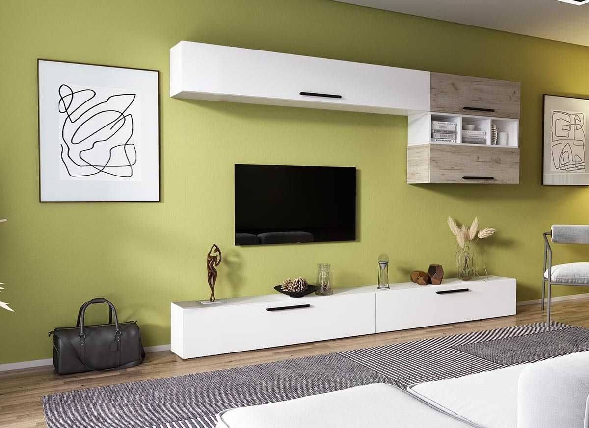 990 lei - Living Pati 077 - Mobila Sufragerie Stejar + Alb