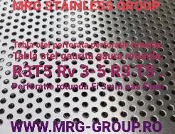 Tabla perforata gaurita otel gauri perforatii 3mm sita inox aluminiu