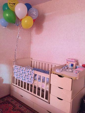 Детская кровать 2 в одном