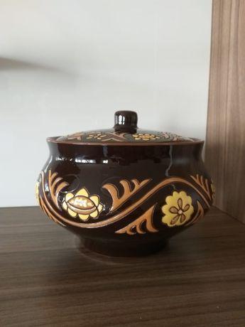 Горшок керамический для приготовления еды в духовке