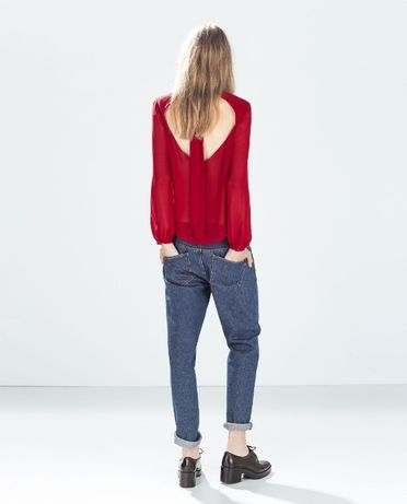 Bluza Zara rosie voal XS 34