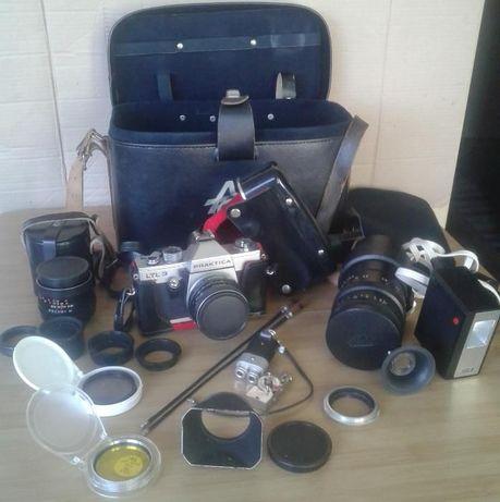 Aparat Foto Praktika LTL3 Pentacon Spiegelreflex cu mult accesorii
