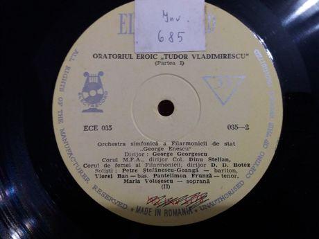 Vinil Oratoriul eroic Tudor Vladimirescu-Filarmonica G.Enescu-V.Ban,.