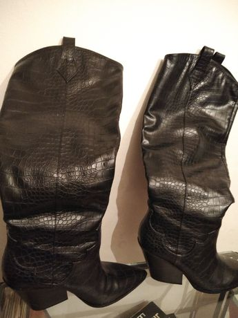 Vand cizme H&M piele ecologica stantata croco
