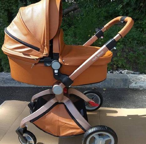 Продаётся детская коляска из эко кожи