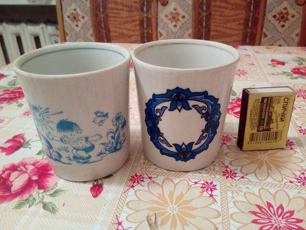 Продам керамические стаканы СССР.Для напитков,сока,кампота,киселя.