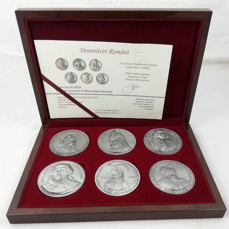 Set 6 Medalii Domnitorii Romaniei Dracula Stefan Cel Mare Cantemir