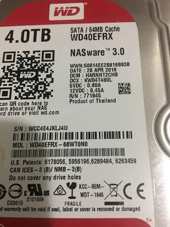 hard WD40EFRX 4Tb