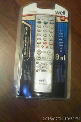 Vand telecomanda universala tv sigilata tip WELL RC-UNIV-035-WL 8 in 1