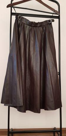 Юбка плиссированная из эко кожи Zara