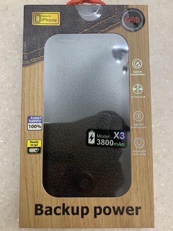 Чехол аккумулятор на iPhone 6 6S 6С 3800 mAh Model: X 3 батарея