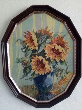 гоблен Слънчогледи във ваза на Ван Гог