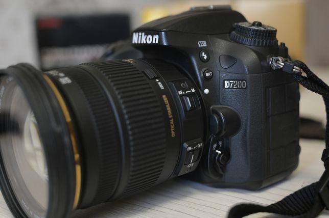 Фотоаппарат Nikon d7200 с объективом Sigma 17-50 f2.8