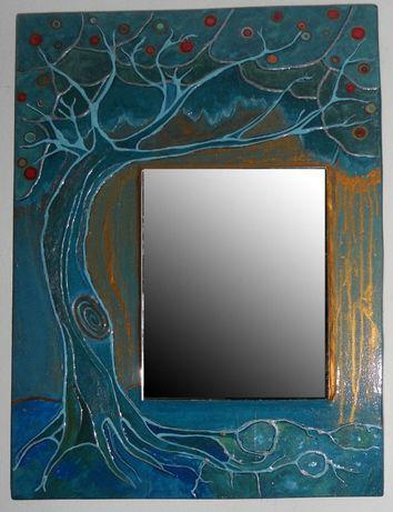 Panou pictat cu oglinda- Tree of Life