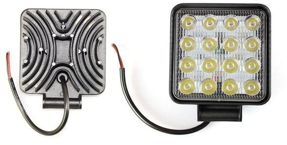 Халоген LED работна лампа 48W ( 3W x 16pcs ) 9V-32V Джип АТВ Коли
