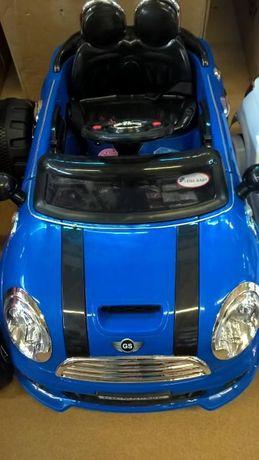 Masinuta electrica si telecomanda MINI COOPER albastra