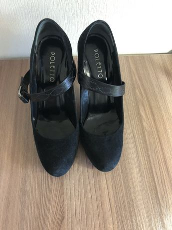 Замшевые туфли. Размер 35. Производство Турция.