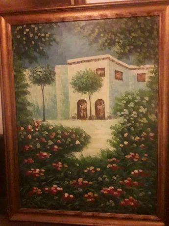 Красива картина с дървена рамка
