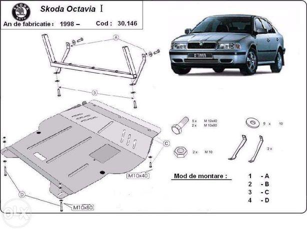 Scut metalic pentru motor Skoda Octavia I 1998-2010 - otel 2mm