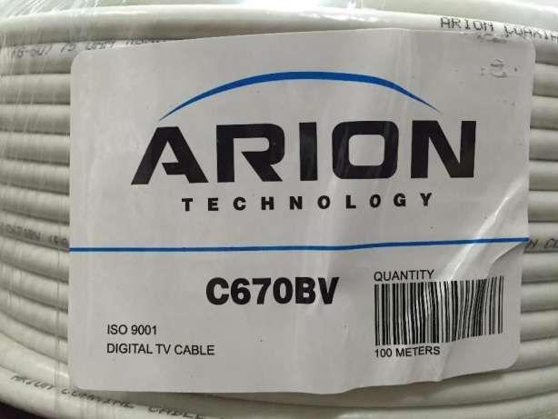 Кабель коаксиальный RG6 Arion 70% 100м/305м