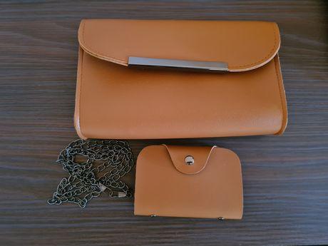 Дамска чанта, с портмоне за документи