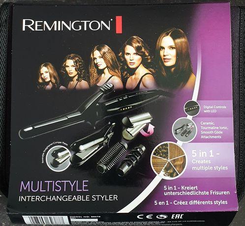 Ondulator Remington S8670, 5 accesorii, Invelis Ceramic, Negru