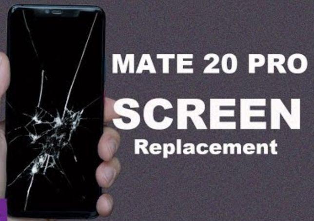 Schimb Inlocuire sticla geam Huawei p20 pro mate 20 p30 samsung s8 9 1