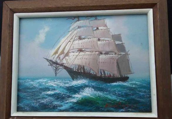 Картина масло на платно с дървена рамка