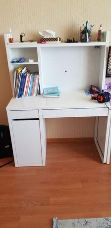 Стол письменный с дополнительным модулем белый Икеа