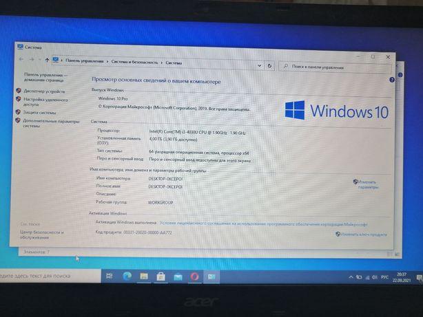 Ноутбук Acer  core i3 4030u