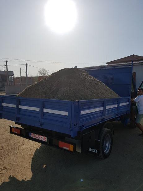 Transport agregate balastiera nisip piatra amestec margaritar