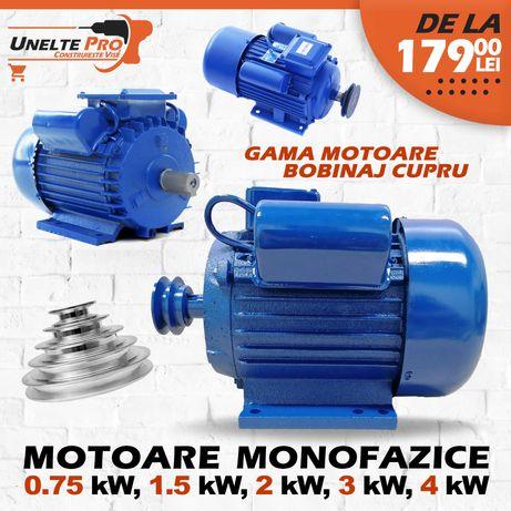 Motoare Monofazice 0.75Kw 1.5Kw 2.2Kw 3Kw 4Kw Monofazice fulie dubla