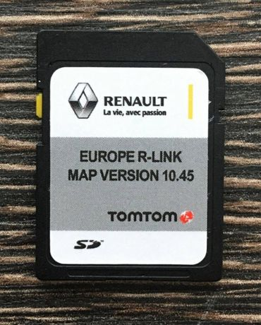 RENAULT TomTom R-LINK V10.45 SD CARD Навигационна 2021год. сд карта