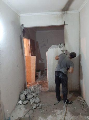 Сверление Резка Алмазным аппаратом Снос зданий Демонтаж сооружений лом
