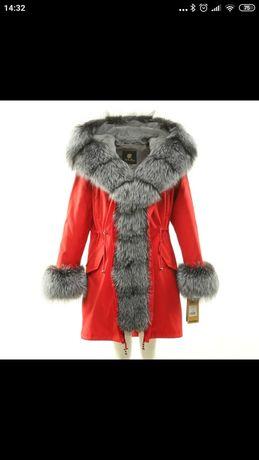 Продам новую парку куртку с мехом чернобурки