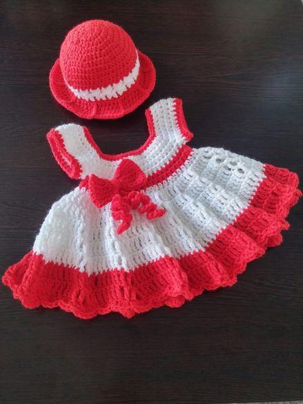 Рокличка и шапка плетени