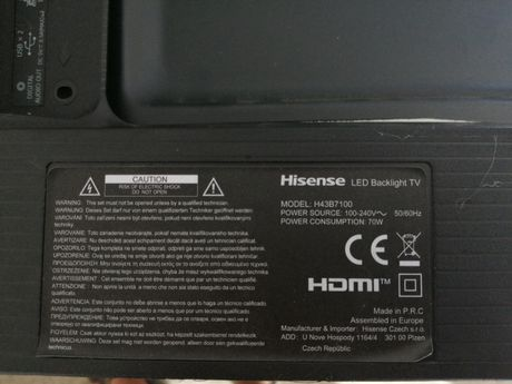 Hisense 4k model: H43B7100