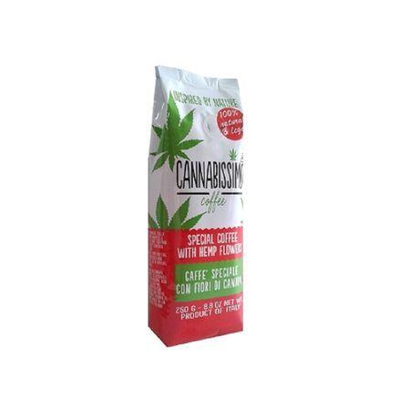 Кафе с коноп Cannabissimo съдържа 8% коноп с висока концентрация на CB