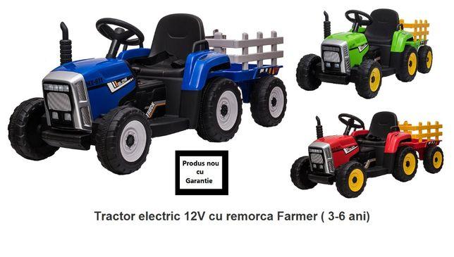 Tractor electric 12V cu remorca Farmer ( 3-6 ani)