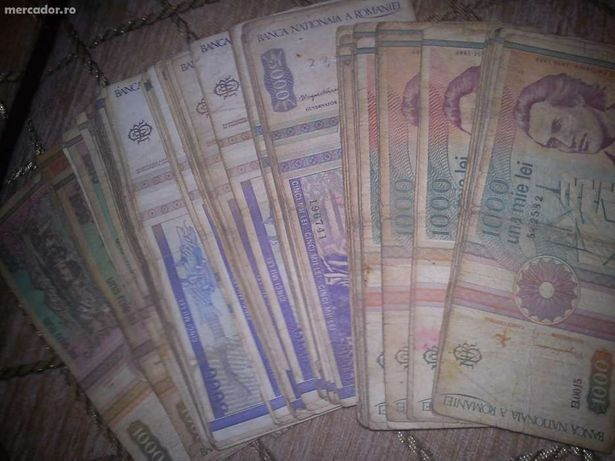 Bancnote de 1000 si 5000 lei