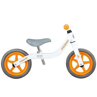 Bicicleta fara pedale (pedagogica) Forever Balance Bike,Alb/Portocaliu