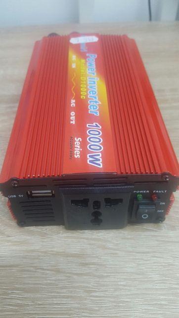 Invertor Transformator Tensiune Auto 12V la 220V, 1000W LAIRUN