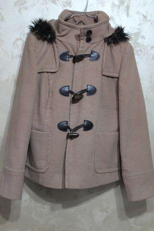 Кафяво дамско палто