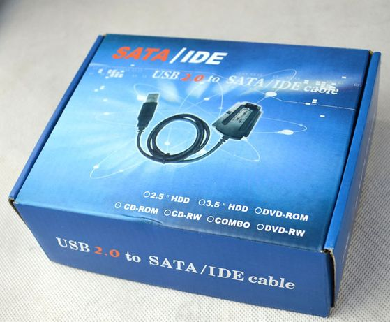 Адаптер, Переходник с USB 2.0 на 3.5''/2.5'' IDE/SATA