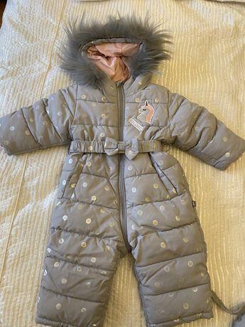 Зимний комбинезон Gulliver на девочку, на 12 месяцев