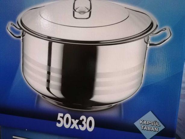 Cratiță inox 60 litri 50 x 30 Ofertă 330 lei