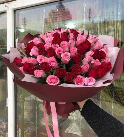 Шикарные букеты цветов от Qazaqflo!Доставка, оформление бесплатно!